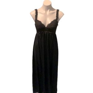 Vintage Black Sexy Olga Lace Nightgown Style#92040